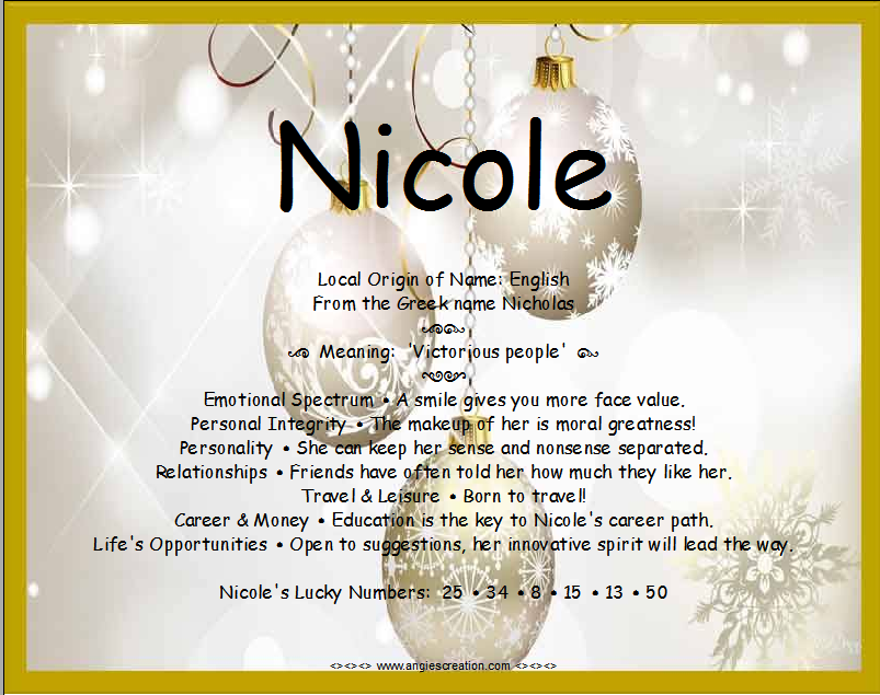Pin Nicole Name Meaning Origin Image Search Results on Pinterest
