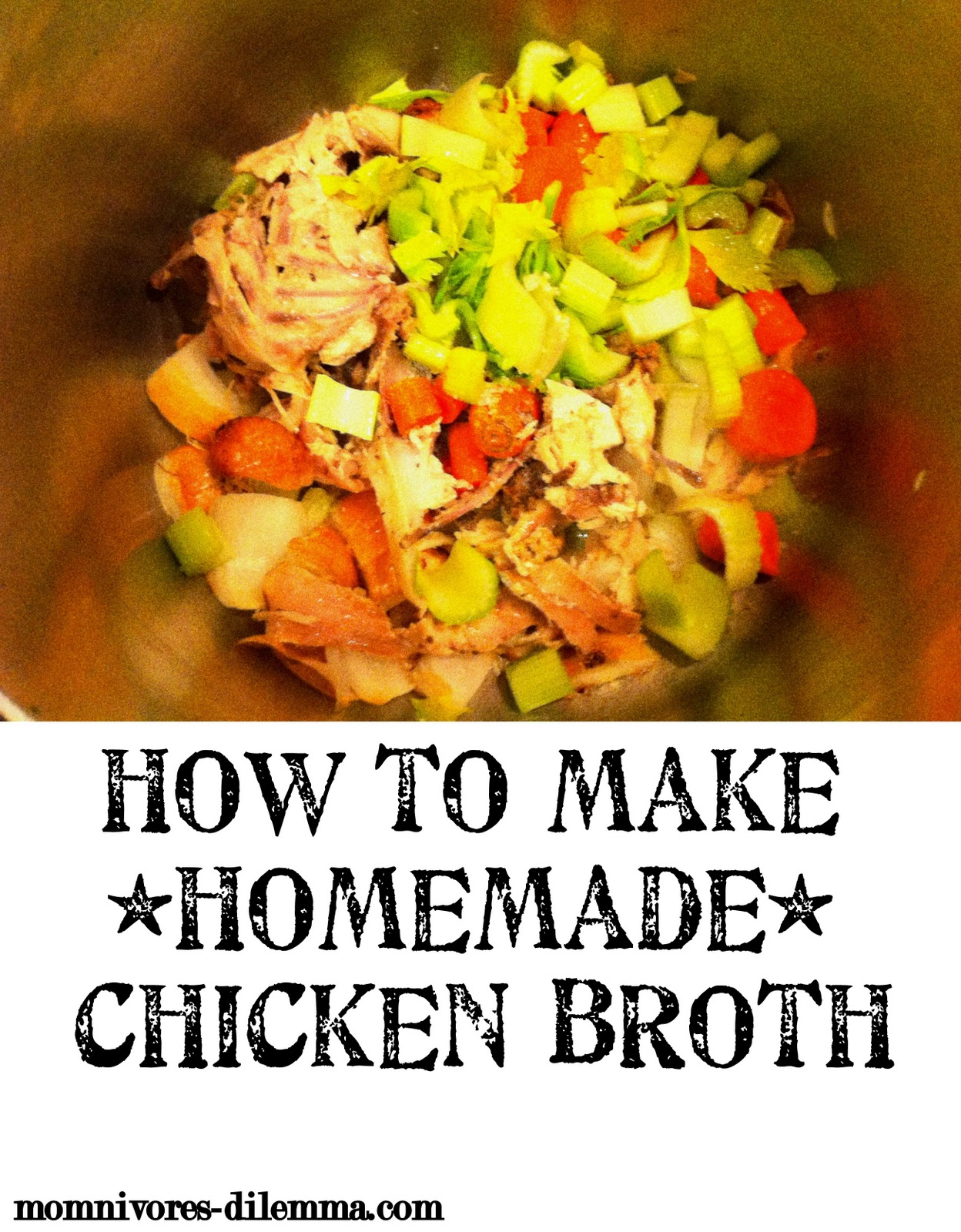 How To Cook Old School Homemade Chicken Stock Broth Soup