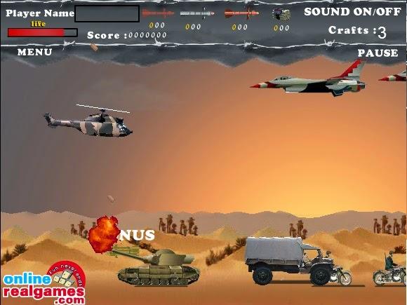 حرب الصحراء لعبة حربية قوية