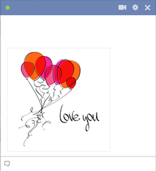 Love You Balloons Icon