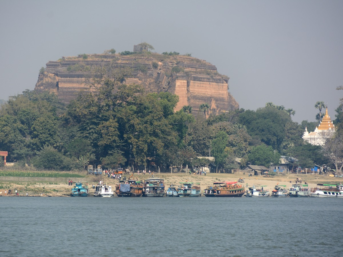 Mingun temple from the Irrawaddy River