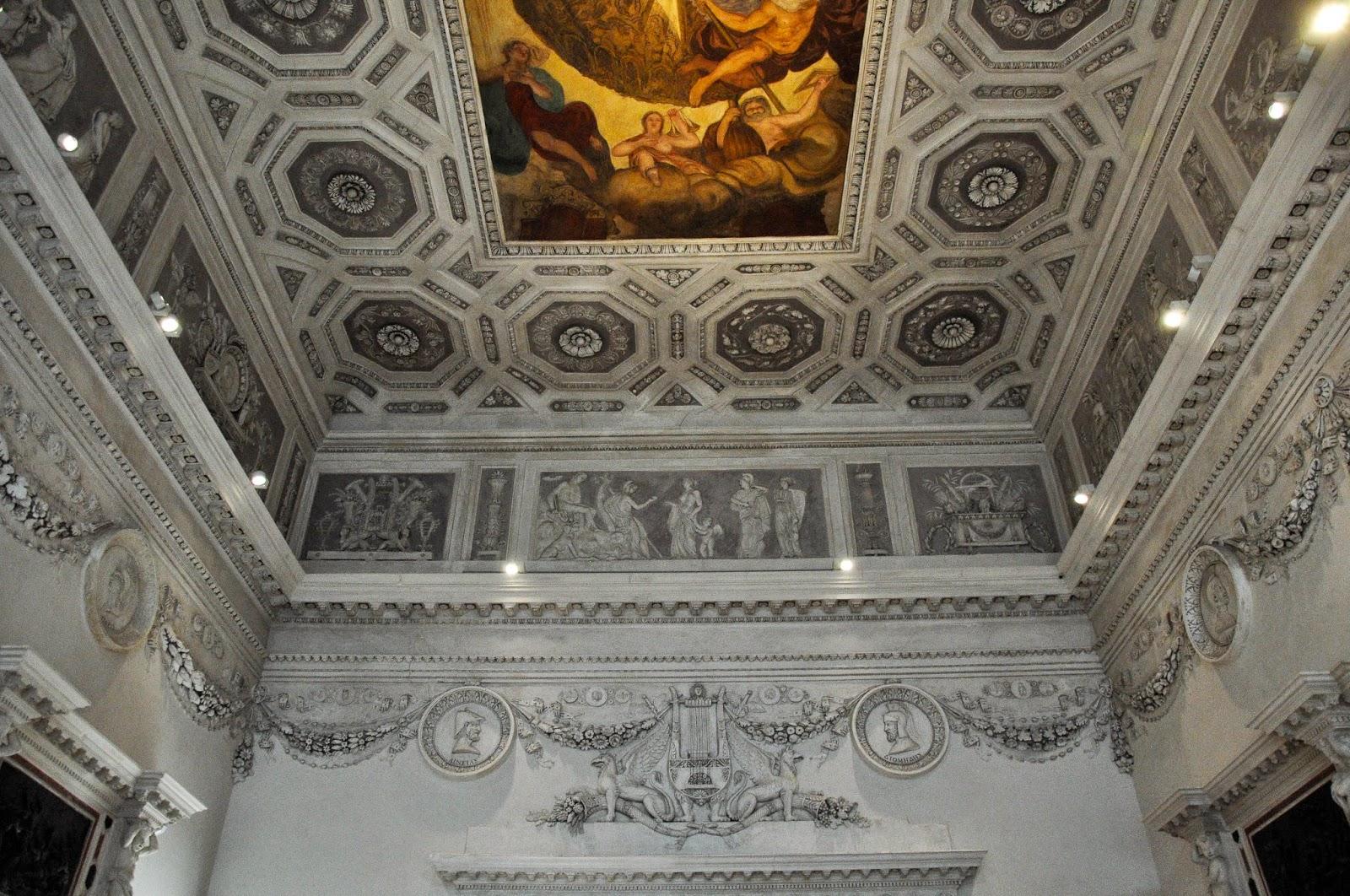 A ceiling, Gallerie D'Italia in Palazzo Leoni Montanari, Vicenza, Italy