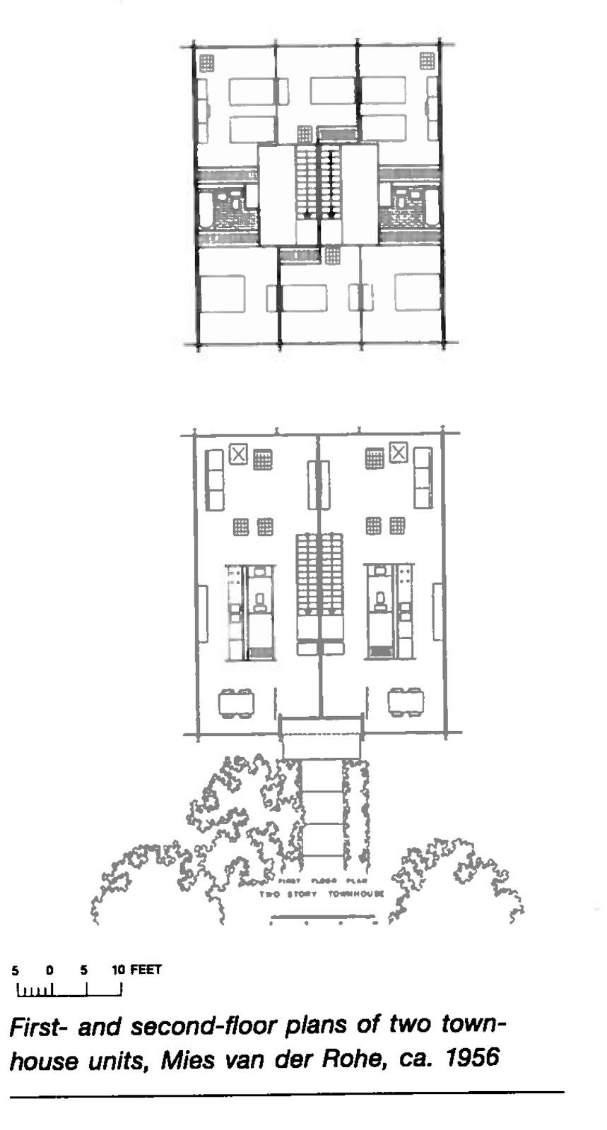 Bim detroit research week lafayette park urban for Urban townhouse floor plans