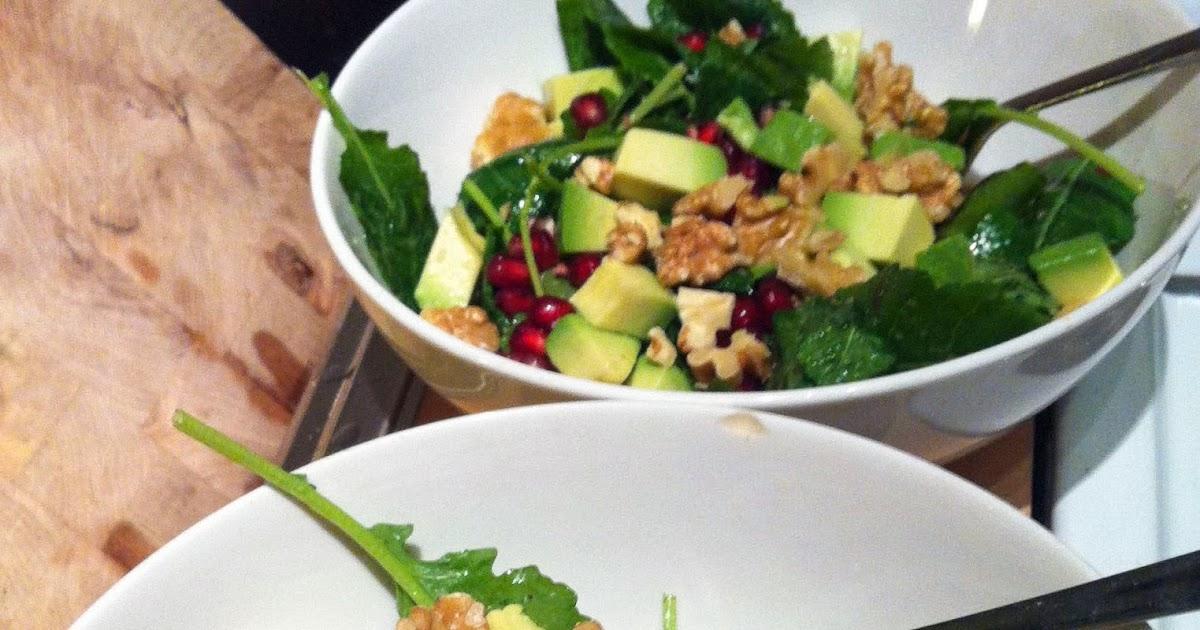 Baby Kale, Avocado, Pomegranate & Walnut Salad | Smart Mouth ...
