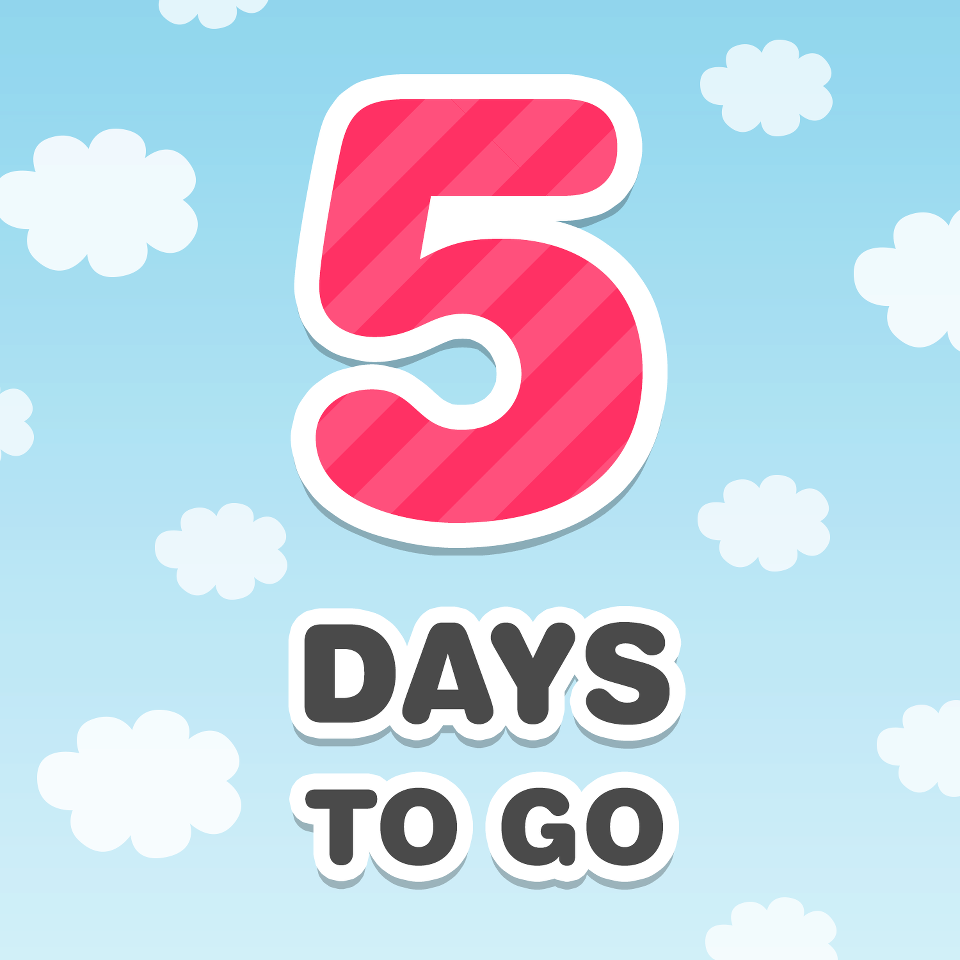 Countdown 5 days to go!  Facebook