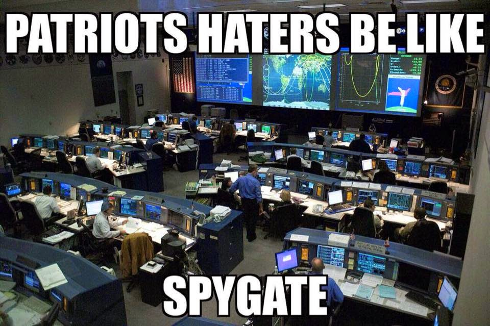 Patriots haters be like Spygate