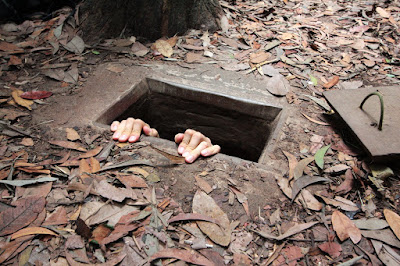 Cu Chi Tunnels in Saigon, Vietnam