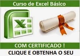 Curso de Excel Básico com Certificado grátis