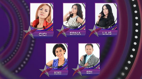 Peserta Bintang Pantura yang turun panggung Tgl 10 Juni 2015 - Babak 5 Besar