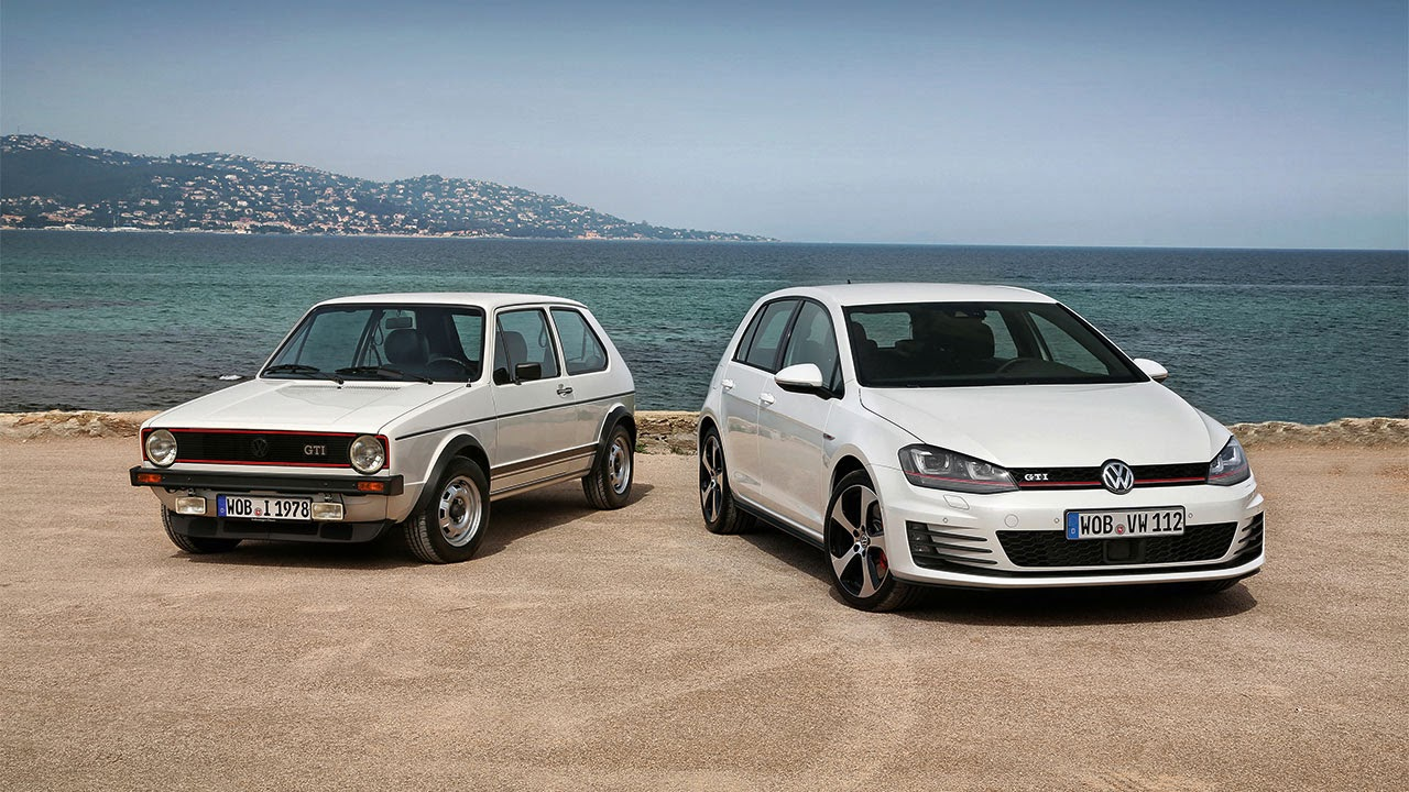 Volkswagen Golf front - forty years