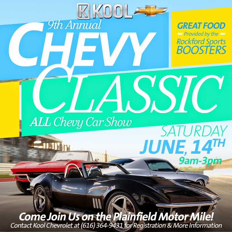 Chevy Classic Car Show in Grand Rapids This Weekend