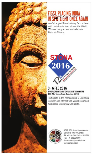12th International Granite and Stone Fair @Bangalore - 3rd to 6th Feb 2016
