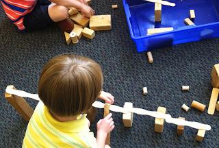 blocks and craft sticks (Brick by Brick)