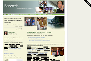 Screen grab of Benetech website with most text blacked out and a Censored banner in the upper right corner