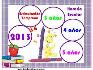 HORARIOS NIVEL INICIAL 2013