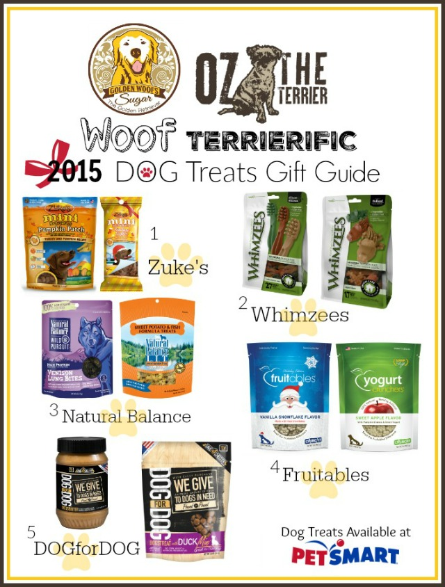 Dog Treats Holiday Gift Guide by Oz the Terrier and Sugar the Golden Retriever
