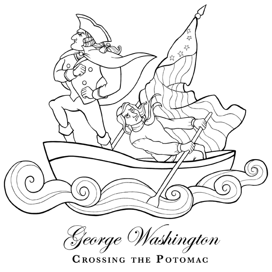 Shawna jc tenney george washington crossing the potomac for George washington coloring pages