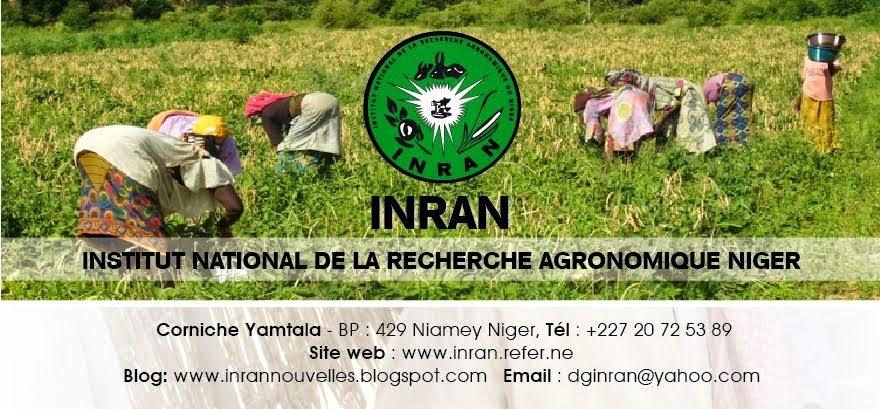 NOUVELLES DE L'INSTITUT NATIONAL DE LA RECHERCHE AGRONOMIQUE DU NIGER