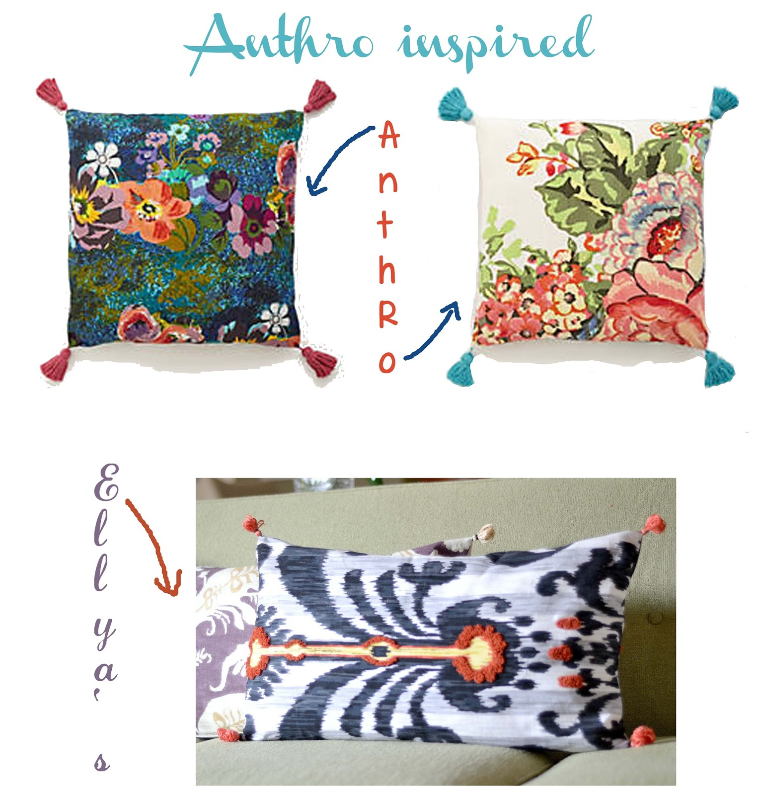 Floor Cushions Anthropologie : Curiositaellya: Home Made Anthro Inspired Throw Pillows {DIY}