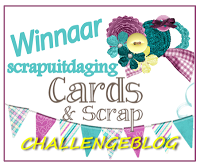 Winnaar Cards & Scrap Uitdaging 13