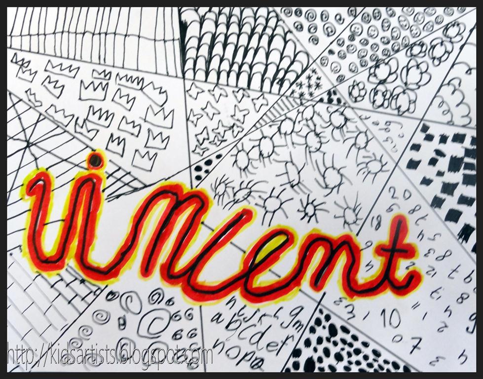 Line Drawing Artists Names : Kids artists september