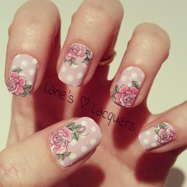 lilac-polka-dot-roses-nail-art