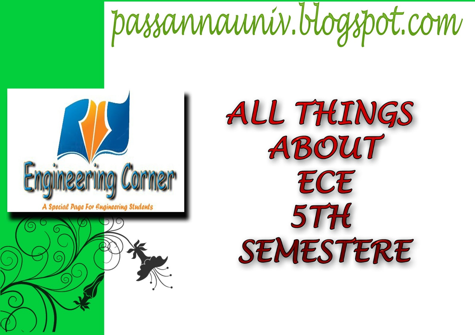 Ece 5th sem all subject syllabus subject code notes for 5th sem time table 2014