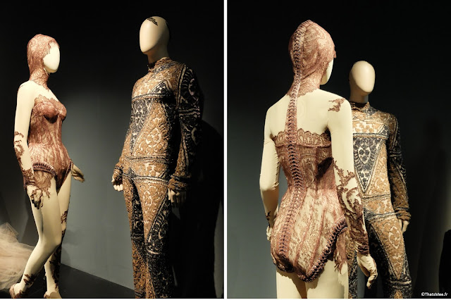 combinaison dentelle broderie brocard boudoir Jean-Paul Gaultier, expo JPG Grand Palais Paris