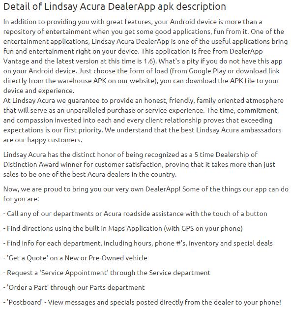 Lindsay Acura DealerApp 1.6 apk