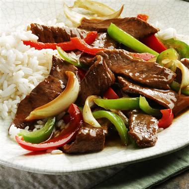 Food DJ: 24 days till Christmas...Eat This.. Pepper Steak with Rice