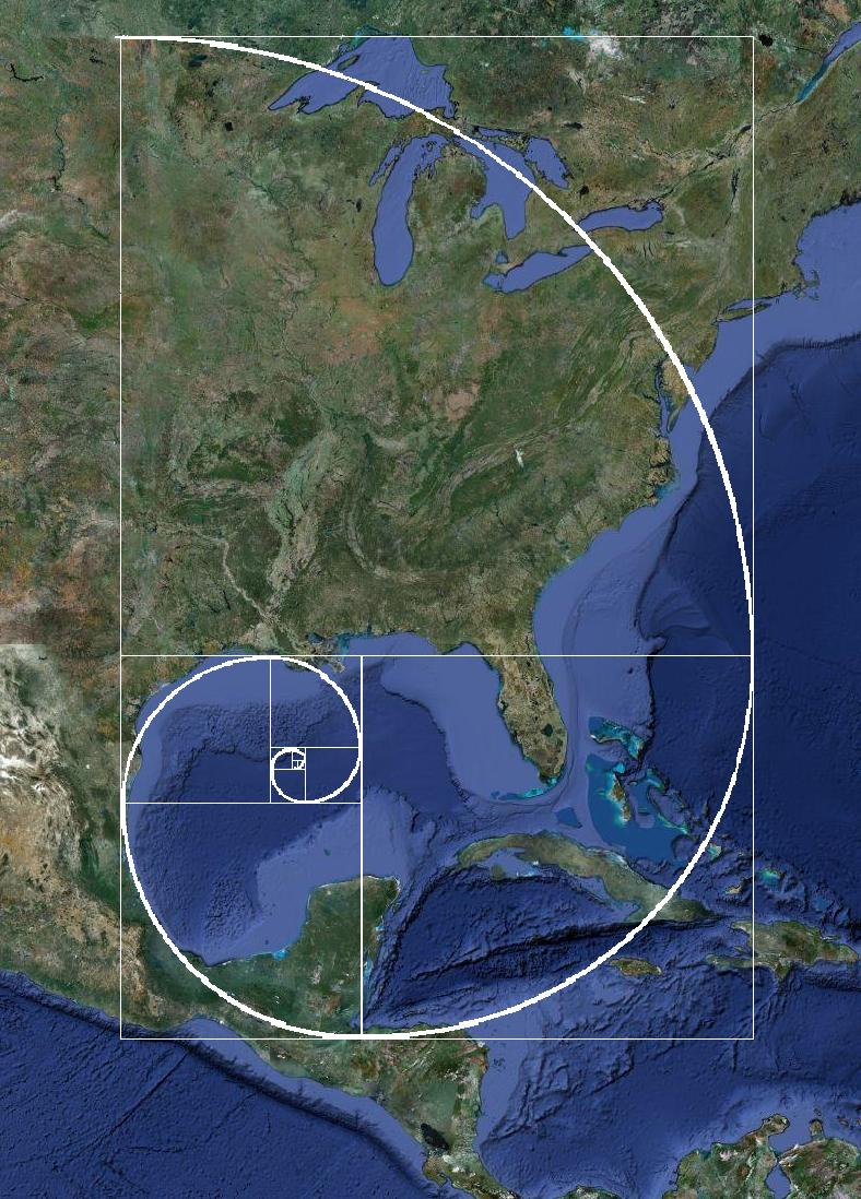 Ear elephant fibonacci spiral in human settlement patterns the coast along the gulf of mexico uses the spiral from new orleans to the end of mexico and then up through the middle of the great lakes gumiabroncs Images