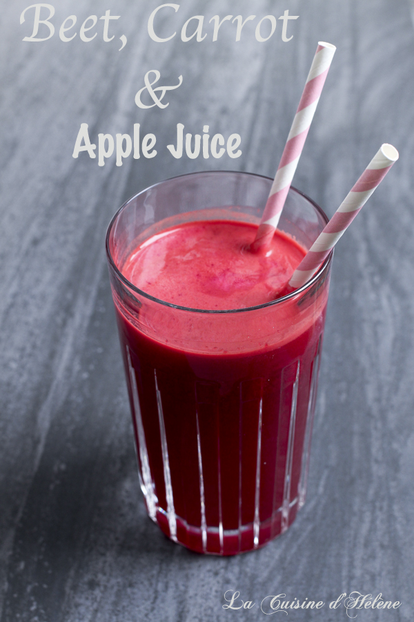 beet, carrot and apple juice