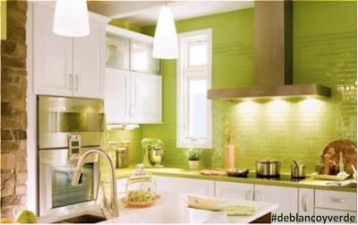 decoracion blanco y verde pintura y madera