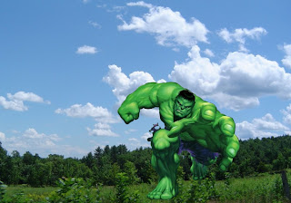 The Incredible Hulk Posters Wallpapers The Green Monster trying to grab you in nightmare in Forest Sky background