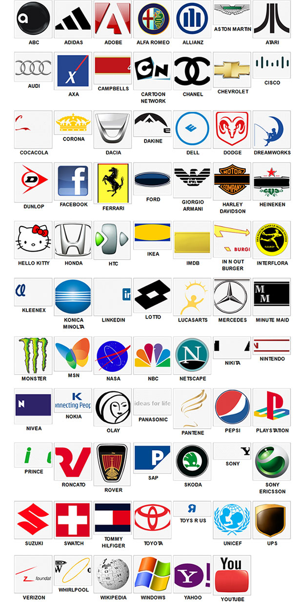 Brand Logos Quiz Answers Level 2