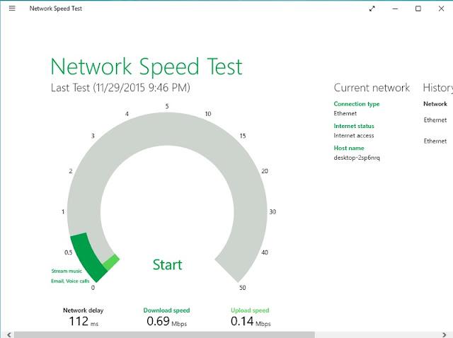 برنامج مجاني لمعرفة وأختبار سرعة الأنترنت علي ويندوز 10 Network Speed Test