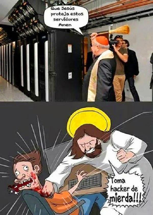 ¡Qué Jesús proteja estos servidores!
