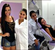 Kelly Baron com a sua amiga e dentista Dra Nataly de Freitas (kelly baron amiga pessoal dentista com nataly freitas)