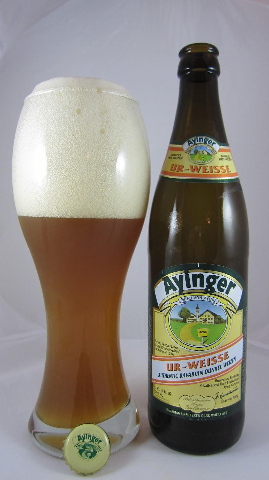 Ayinger Ur Weisse, a classic dunkelweizen
