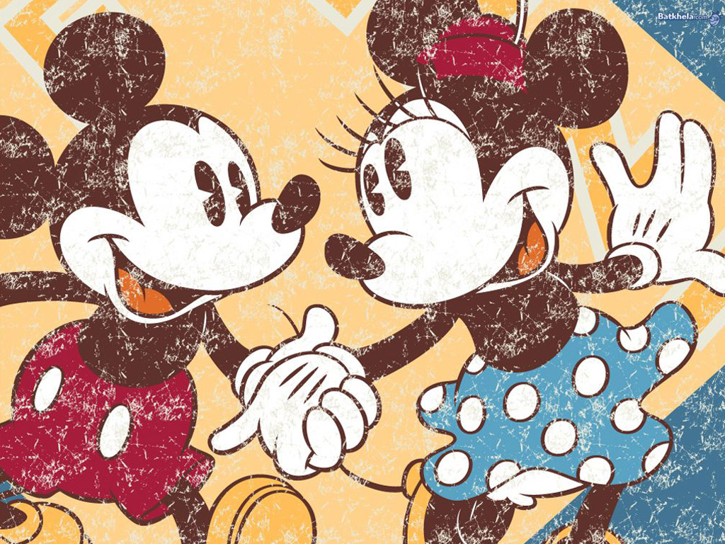 fazem parte da nossa infância a gerações:os fofos mickey e minnie