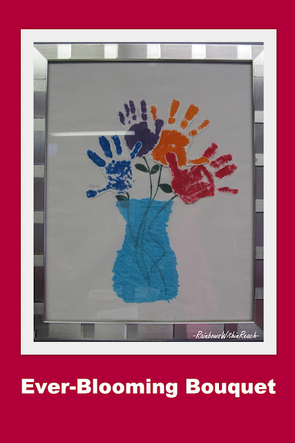 Mother's Day Painted Hand Print Bouquet #MothersDay