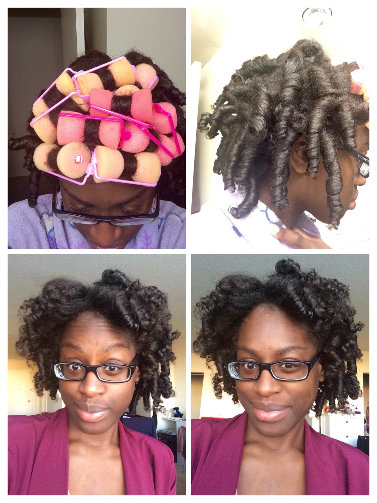 Foam Rollerset on Natural hair