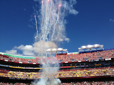 Nearing kickoff at FedEx Field