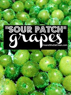 Clean Eat Recipe Sour Patch Grapes