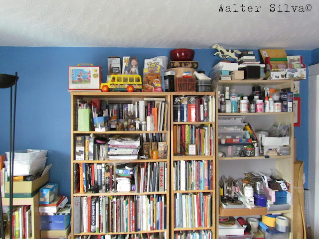 Walter Silva's Studio - The other side of my studio, where I keep books, Toys and supplies that inspire me.