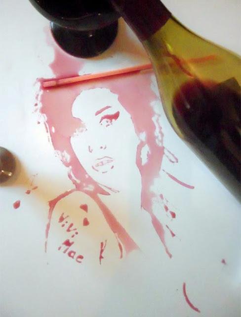 بالصور فنون الرسم من نوع اخر عن طريق الرسم بالسوائل