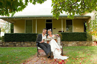Wedding Couple in Tasma Gardens, Daylesford