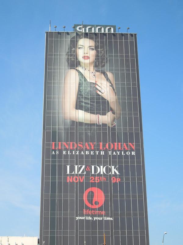 Giant Lindsay Lohan Liz and Dick billboard