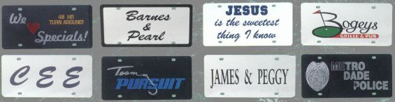 Custom Logo License Plates