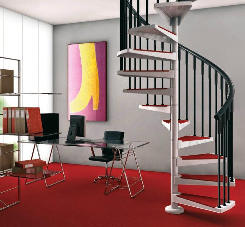tangga rumah minimalis spiral mewah